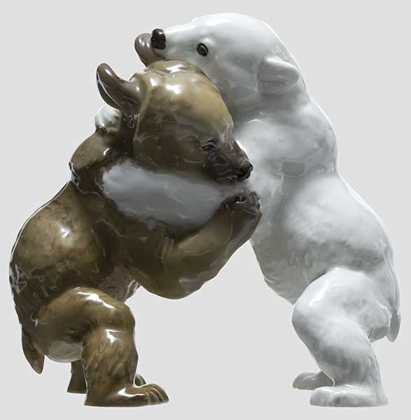 Борющиеся медведи, мод. №6, Allach